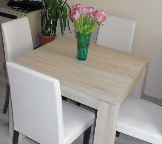 Stół kwadratowy 90 x 90 rozkładany dąb sonoma FORTE LATIS