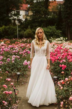 Piękna, zjawiskowa suknia ślubna, Atrakcyjna cena !