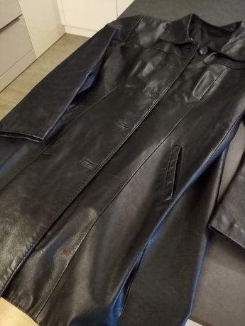 krótki płaszczyk ze skóry cielęcej