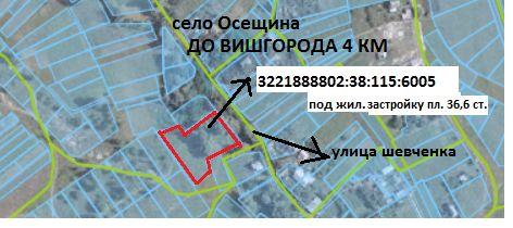 Продам под прекрасную УСАДЬБУ земельный участок в центре села Осещина