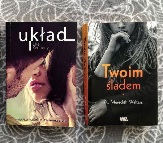 """Książki romans """" Układ"""" i """"Twoim Śladem"""""""