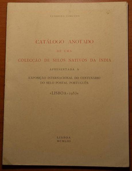 Catálogo anotado de uma coleção de selos nativos da Índia, completo