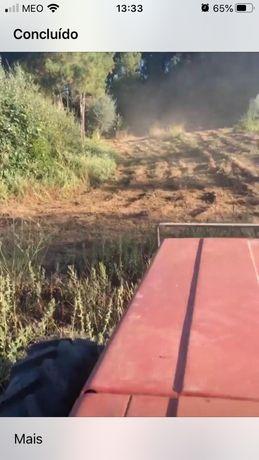 Limpeza de mato com tractor e rosadora