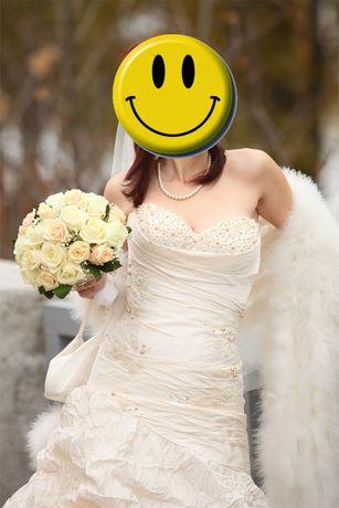 Продам своё шикарное свадебное платье р 42-44