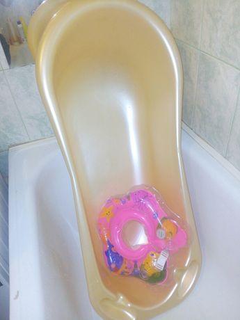 Ванночка для новонароджених + коло для купання