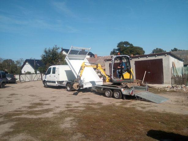 Usługi minikoparką oraz wywrotką do 3 ton