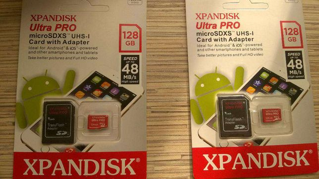 Karta XPANDISK microSDXS 128GB UltraPro + Adapter Android 48MB/s