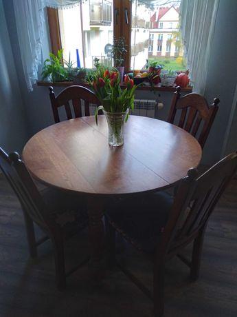Stół holenderski, okrągły, rozkładany