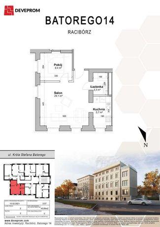 2 pokoje - oddzielna kuchnia - NOWE mieszkanie w kamienicy-Batorego14