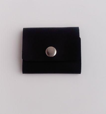 Чоловічий шкіряний міні гаманець ручної роботи