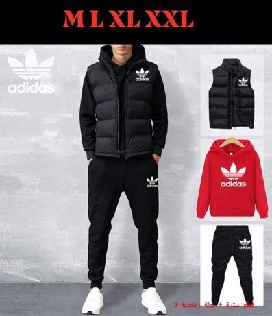 Komplet męski 3 częściowy dres + bezrękawnik Adidas M L XL XXL