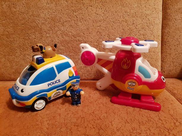 WOW Полицейская инерционная машина спасательный вертолет
