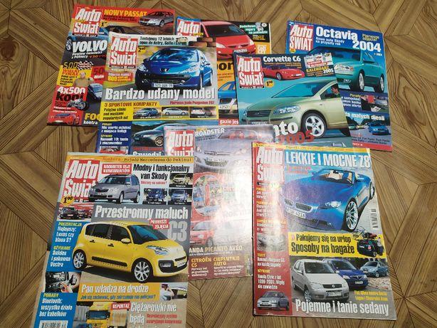 Zestaw magazynów Auto Świat - 8 gazet z lat 2003-06