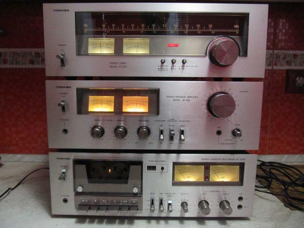 ПОРОДИСТАЯ Аудиосистема «AUREX» TOSHIBA 230 HI-FI *Gold Vintage
