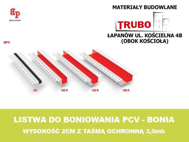 Listwa do boniowania bonia bonie PCV 3mb wys. 2cm