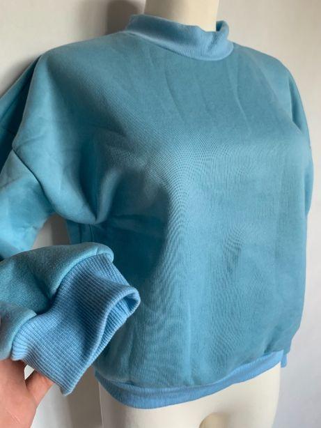 Niebieska bluza baby blue S/M