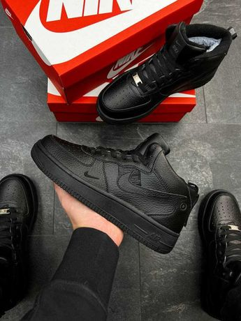 А1297 Nike Air Force кроссовки найк аир форс зимние мех ботинки
