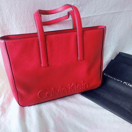 Torebka klasyczna czerwona Calvin Klein nowa z metkami