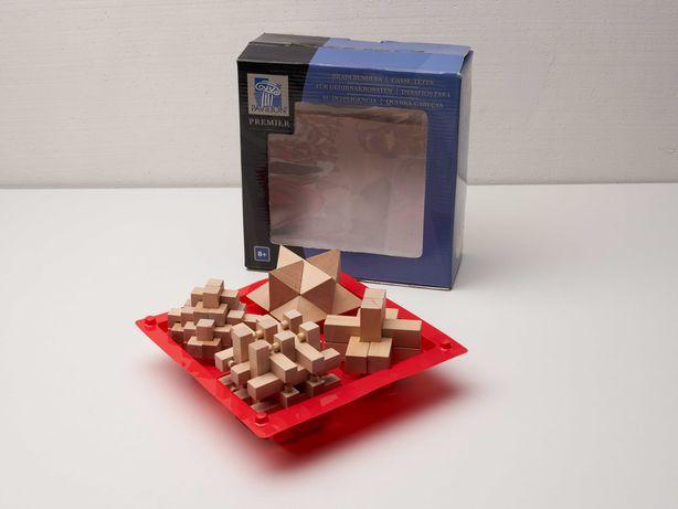 Jogo conjunto de Quebra Cabeças em madeira
