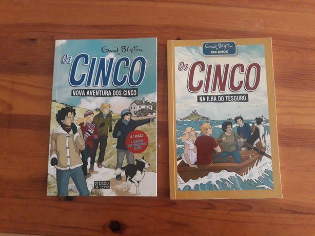 """Livros de aventura """"Os Cinco"""""""