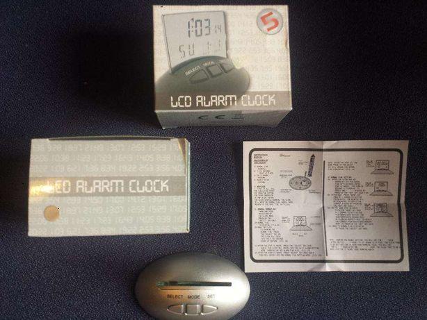 Mini relógio alarme LCD