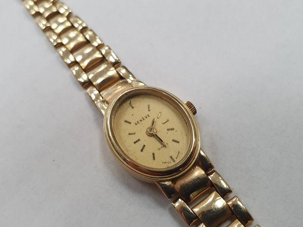 Złoty zegarek damski/ Geneva/ Geneve/ Złoto 585/ 20 gram/ 18.5 cm