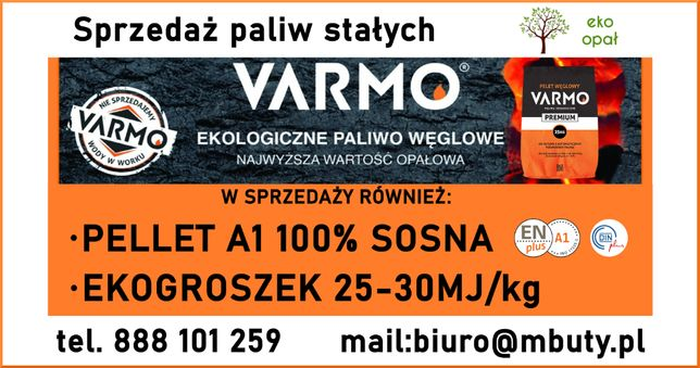Ekogroszek, Skarbek Bobrek ,Wesoła,pelet węglowy Varmo,Pelet drzewnyA1
