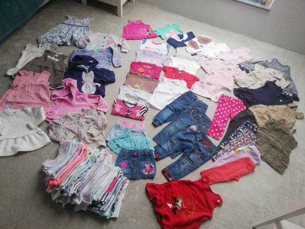 Zestaw 12 18 86 sukienki spodnie leginsy bluzeczki tuniki body ubranka