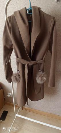 Кошемировая накидка, пальто