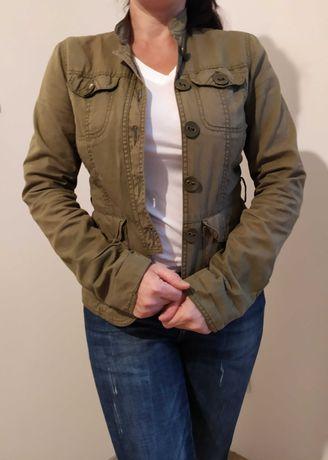 H&M - kurtka w kolorze khaki r. 34- WYPRZEDAŻ