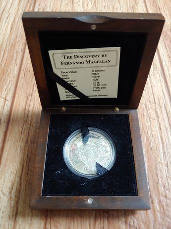 монета Северные Марианские острова 5 долларов 2004 год серебро Фернанд
