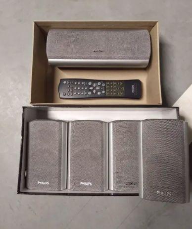 Kino domowe Philips pełen zestaw amplituner subwoofer głośniki dvd