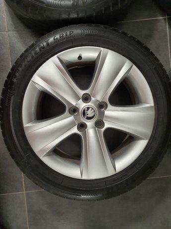 Felgi aluminiowe Skoda 17 cali z oponami GOOD YEAR 225/50/17