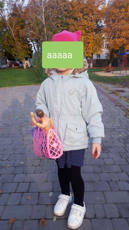 Куртка осінь,тепла зима,парка,штани вільветові нарядні, шапка дівчинка