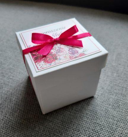 Zaproszenie pudełko box na ślub/zawiadomienie dla Rodziców