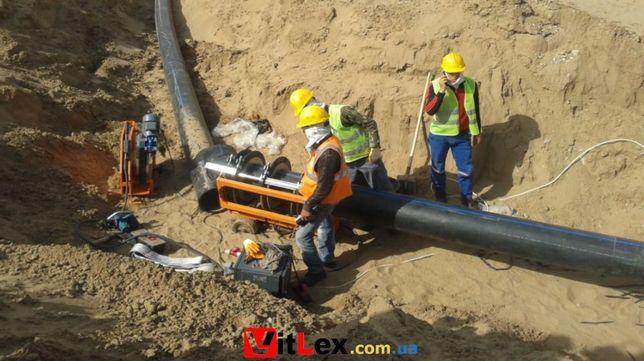 Сварка пластиковых труб ПЭ, прокладка, подключение монтаж водопровода