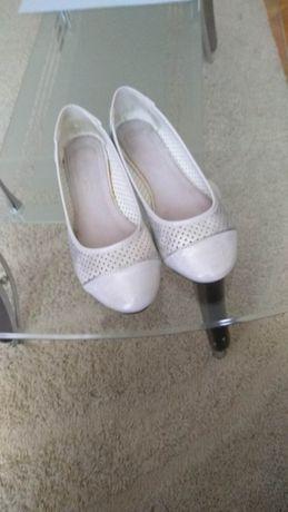 Baleriny buty szare srebrne 38