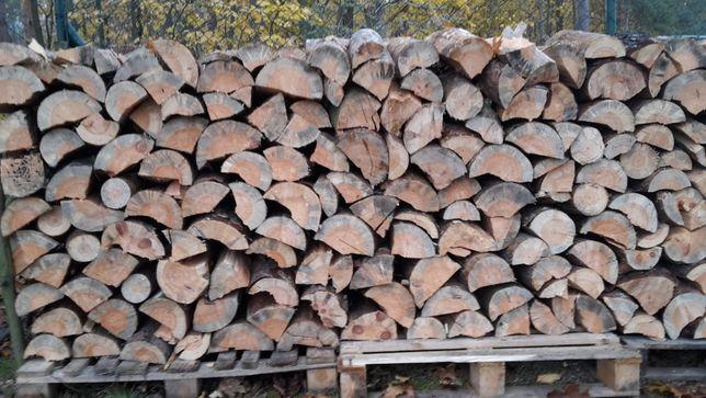 Drewno opałowe do pieca sosnowe grube sosna pocięte łupane. Transport.
