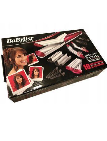 Zestaw do stylizacji włosów Babyliss 10w1 prostownica, lokówka,nowy