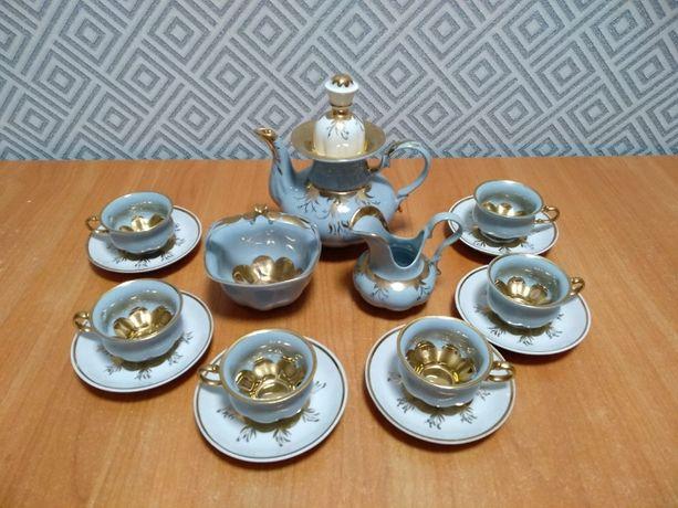 Позолоченный кофейный кобальтовый сервиз. Коростень