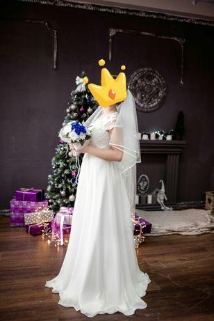 Продам свадебное платье ( можно как вечернее, выпускное)