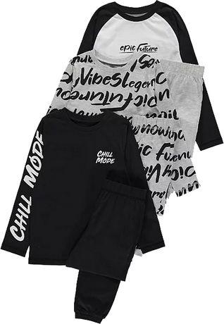 3-pack piżama BLACK George 9-10lat 140cm