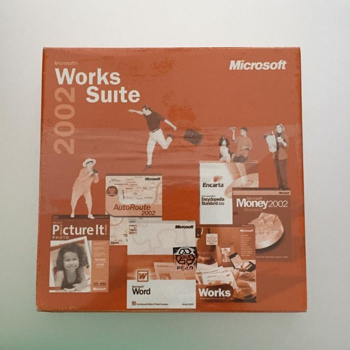 Works Suite Microsoft - Word, Works, Picture, Money, Autoroute
