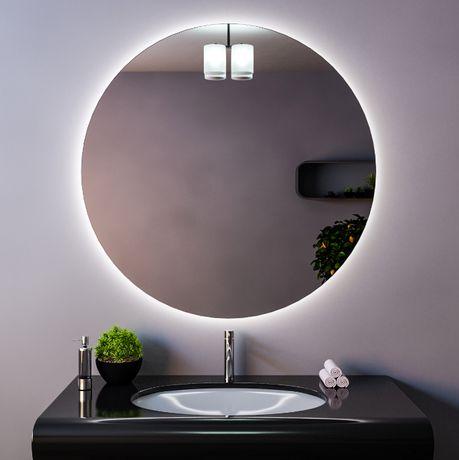 Акция! Зеркало для Ванной парящее с подсветкой круглое 50 мм- 999 грн