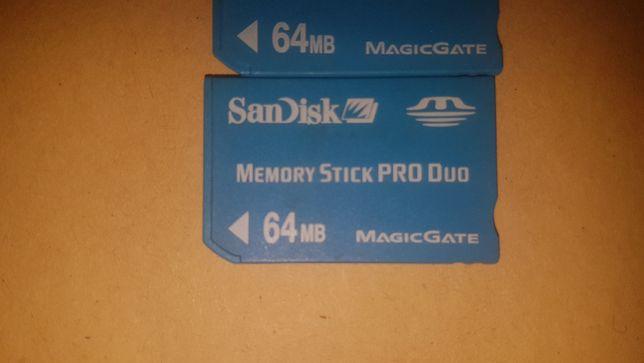Карта памяти San Disk Memory stic pro duo 64mb