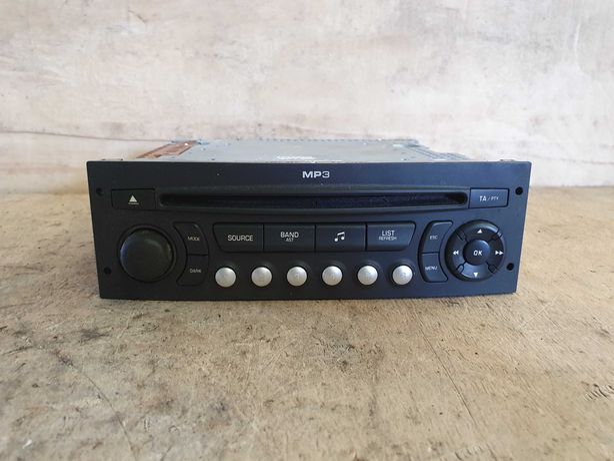 Rádio CD Player MP3 Original - Peugeot 207 1.6 HDi- 2006 / 2012