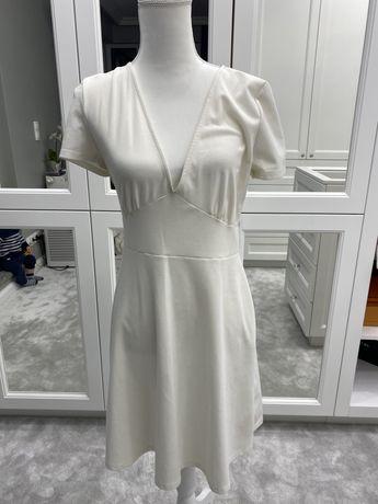 Biała sukienka midi Zara