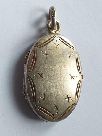 Antyk stary srebrny sekretnik wisior srebro 800.medalik