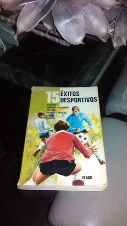 livro antigo 15 êxitos desportivos 1972 da editorial verbo