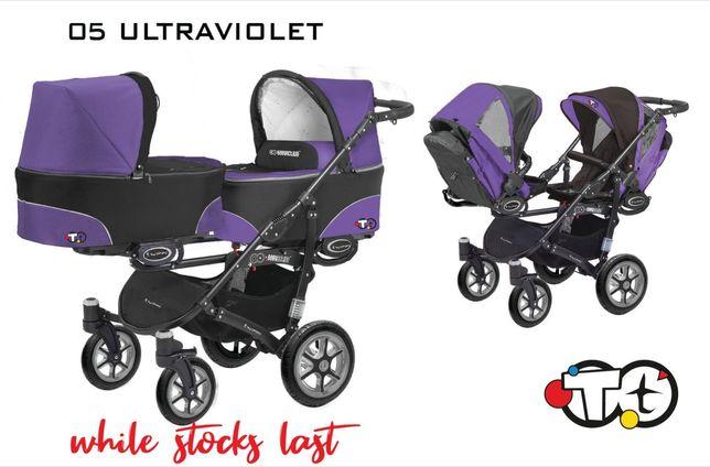 Wózek podwójny bliźniaczy lub rok po roku baby active twinni pilne